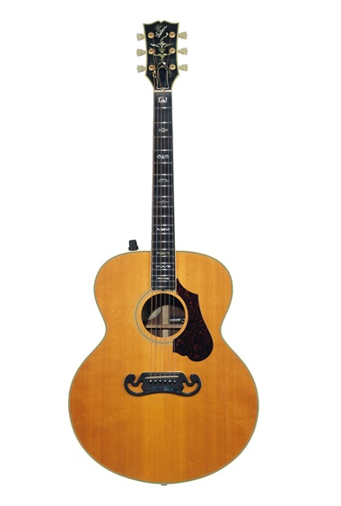 Gibson Incorporated, Nashville, 1985. An acoustic guitar, J-200 Celebrity. Estimate $3,500-5,500. Offered in the David Gilmour Guitar Collection on 20 June at Christie's in New York