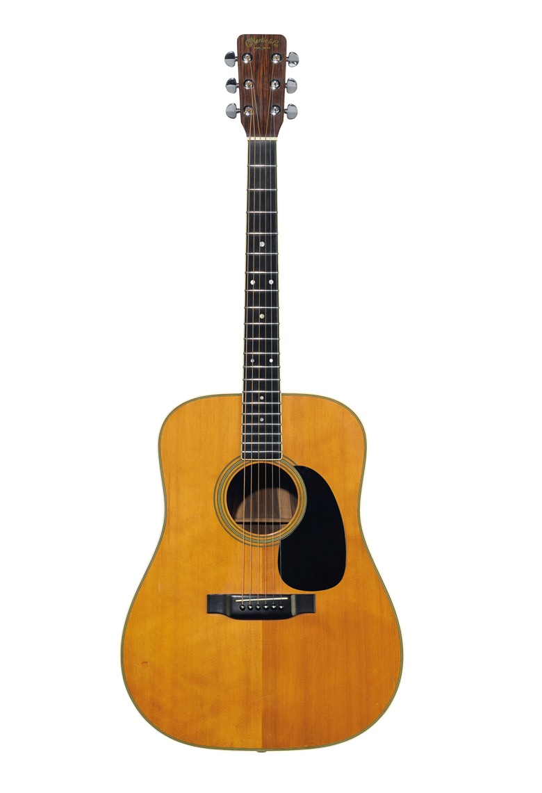 C.F. Martin & Company, Nazareth, 1969. An acoustic guitar, D-35. Sold for $1,095,000 on 20 June 2019 at Christie's in New York