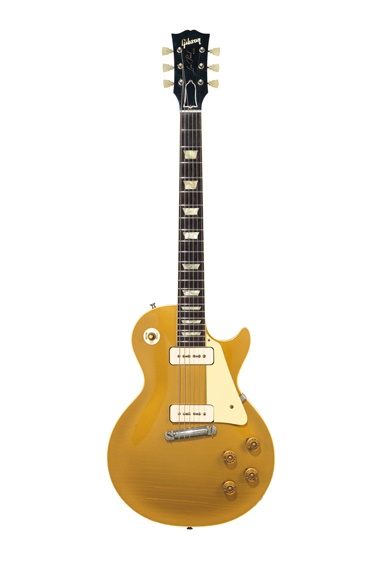 Gibson Incorporated, Kalamazoo, 1955. A solid-body electric guitar, Les Paul. Estimate $30,000-50,000. Offered in The David Gilmour Guitar Collection on 20 June at Christie's in New York