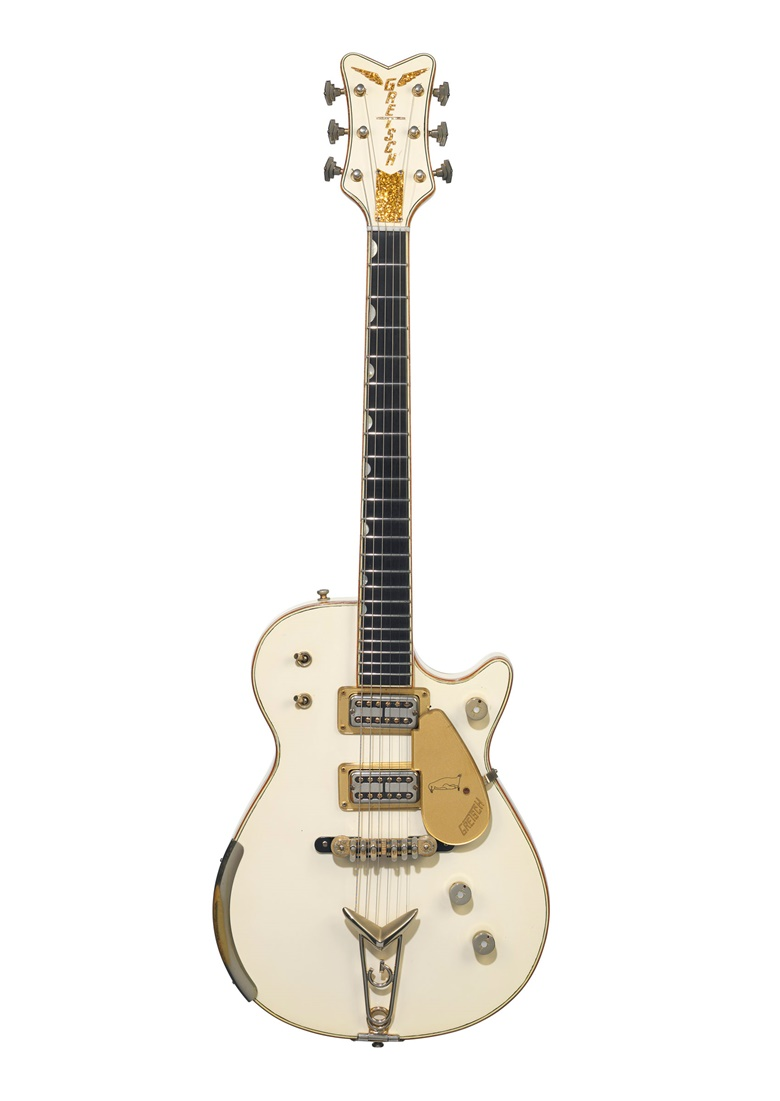 The Fred Gretsch Manufacturing Company, Brooklyn, 1958. A solid-body electric guitar, White Penguin, 6134. Sold for $447,000  on 20 June at Christie's in New York