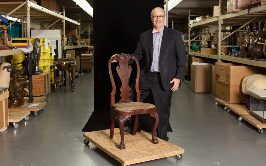 John Hays with The Powel-Griffitts family Queen Anne carved walnut compass-seat side chair, Philadelphia, circa 1750. Sold for $348,500 on 17-18 January 2019 at Christie's in New York