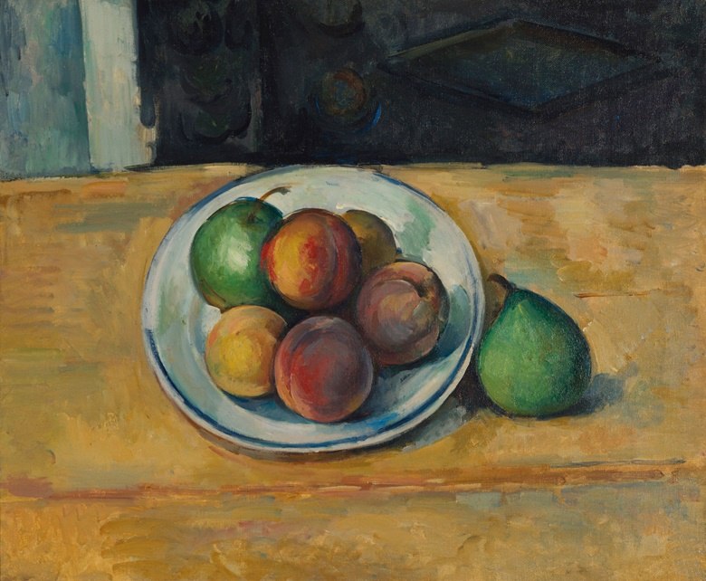 Paul Cézanne, Nature morte de pêches et poires, 1885-1887. Oil on canvas. 15 x 18⅛ in (38 x 46.3 cm). Estimate on request. Offered in Hidden Treasures on 27 February at Christie's London