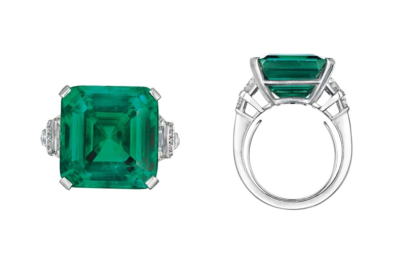The Rockefeller Emerald. Sold for $5,511,500 on 20 June 2017 at Christie's in New York