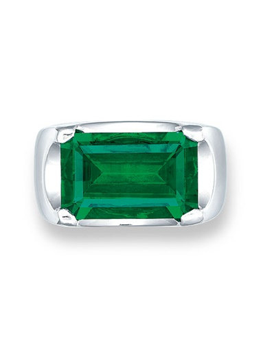 An exceptional emerald ring of Afghanistan origin. Sold for HK$17,560,000 on 1 December 2015 at Christie's in Hong Kong