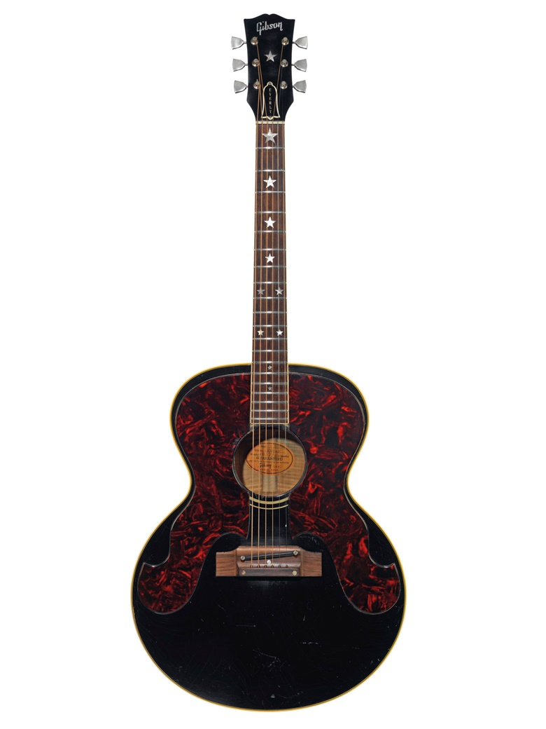 Gibson Incorporated, Kalamazoo, 1963. An acoustic guitar, Everly Brothers, J-180. Estimate $10,000-15,000. Offered in The David Gilmour Guitar Collection on 20 June at Christie's in New York