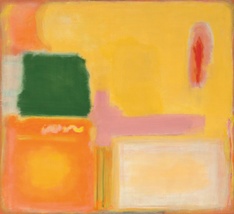 Mark Rothko (1903-1970), No. 16No. 12 (Mauve Intersection), 1949. 58⅜ x 64¼  in (135.6 x 163.2  cm). Sold for $5,382,500 on 13 May 2019 at Christie's in New York © 2019 Kate Rothko Prizel & Christopher Rothko  Artists Rights Society (ARS), New York