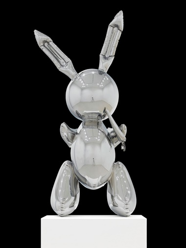 Jeff Koons (b. 1955), Rabbit, 1986. Stainless steel. 41 x 19 x 12 in (104.1 x 48.3 x 30.5 cm). This work is number two from an edition of three plus one artist's proof. Sold for $91,075,000 in the Post-War and Contemporary Art Evening Sale on 15 May at Christie's in New York © Jeff Koons