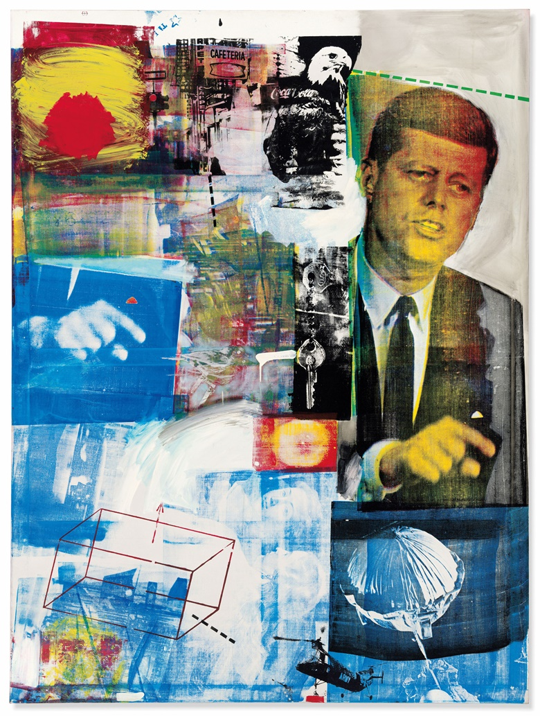 Robert Rauschenberg (1925-2008), Buffalo II, 1964. Oil and silkscreen ink on canvas. 96 x 72 in (243.8 x 183.8 cm). Sold for $88,805,000 in the Post-War and Contemporary Art Evening Sale on 15 May at Christie's in New York © 2019 Robert Rauschenberg Foundation  Licensed by VAGA at Artists Right Society (ARS), New York