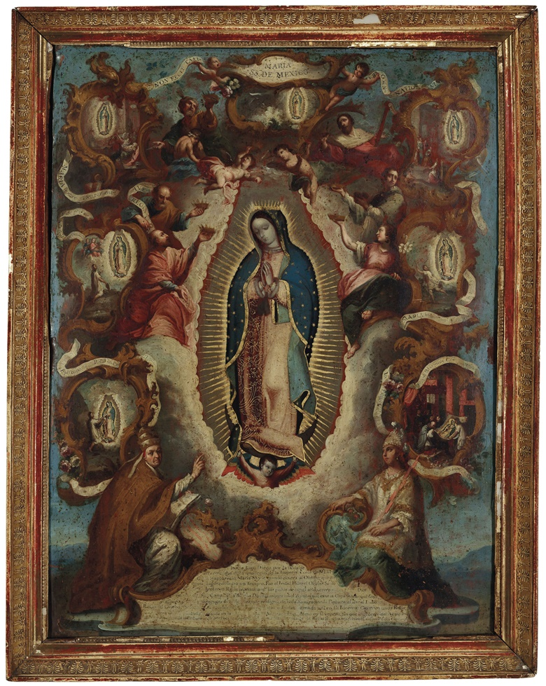 Juan Patricio Morlete Ruiz (1713-1770), Virgen de Guadalupe. Oil on metal, 33¼ x 26¼  in (84 x 67 cm). Estimate $60,000-80,000. Offered in Latin American Art on 22-23 May 2019 at Christie's in New York