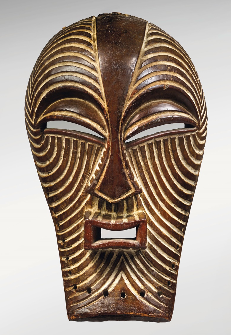 The Walschot-Schoffel Kifwebe mask, Songye Master Artist, Democratic Republic of Congo. Height 14⅝  in (37 cm). Sold for $4,215,000 on 14 May 2019 at Christie's in New York