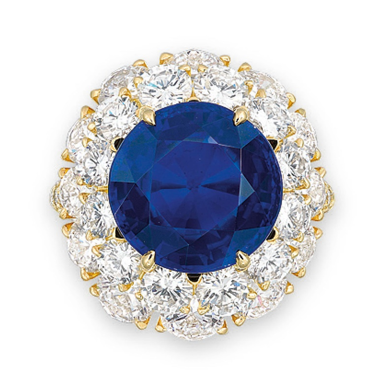 An extremely rare sapphire and diamond ring. Sold for HK$19,160,000 on 2 June 2015 at Christie's in Hong Kong
