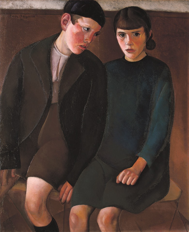 Boris Grigoriev (1886-1939) The Children, 1922. 39½ x 32⅛  in (100.3 x 81.6  cm). Sold for £960,000 on 29 November 2006 at Christie's in London