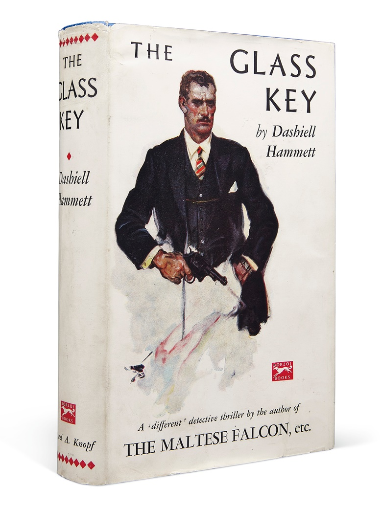 Dashiell Hammett (1894-1961). The Glass Key. London Alfred A. Knopf, 1931. First edition in the scarce original dust jacket. Estimate $60,000-80,000. Offered in Fine Printed Books and Manuscripts Including Americana on 25 October at Christie's in New York