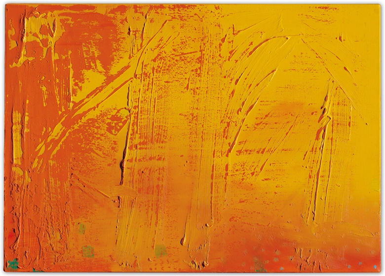 Gerhard Richter (b. 1932), Abstraktes Bild, 1980. Oil on canvas. 19¾ x 27⅝ in (50.2 x 70.2 cm). Estimate £200,000-300,000. Offered in the Post-War and Contemporary Art Day Auction on 5 October at Christie's in London