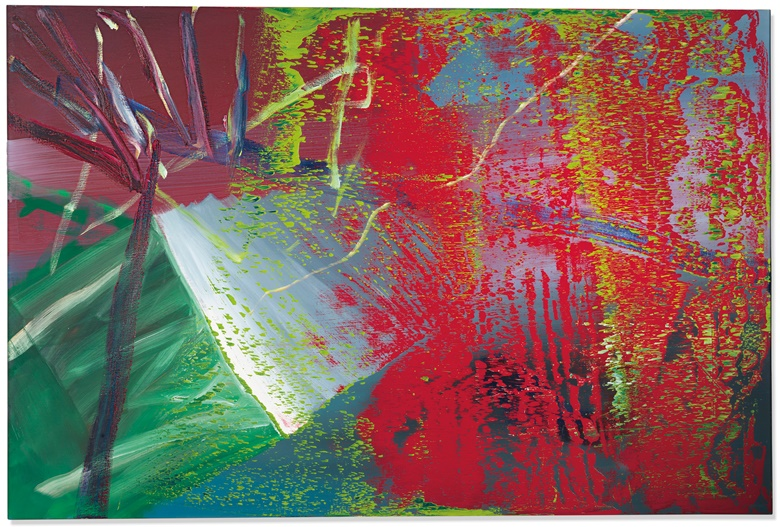 Gerhard Richter (b. 1932), Abstraktes Bild, painted in 1984. Oil on canvas. 78¾ x 118⅛ in (200 x 300.4 cm). Estimate £6,500,000-9,500,000. Offered in the Post-War and Contemporary Art Evening Auction on 4 October at Christie's in London