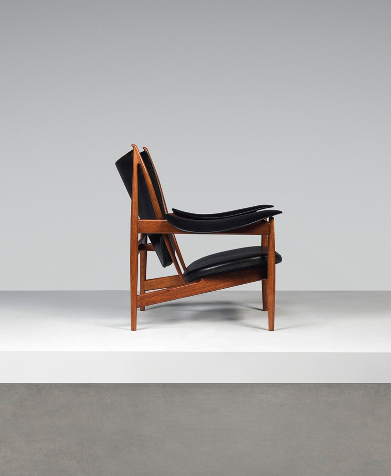 Finn Juhl (1912-1989), An early Chieftain armchair, model no. FJ49, designed 1949. 36½ x 41 x 35½ in (93 x 104 x 90 cm). Estimate £50,000-80,000. Offered in Design on 16 October 2019 at Christie's in London