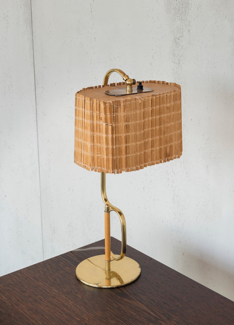 Paave Tynell (1890-1973), a rare table lamp. model no. 9202, c. 1953. 18½ x 9 x 8¼ in (47 x 23 x 21 cm). Estimate £15,000-25,000. Offered in Design on 16 October 2019 at Christie's in London