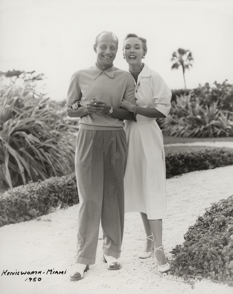 James and Marilynn Alsdorf, pictured in Miami in 1950. Photograph courtesy of the consignor