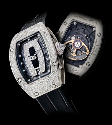 Richard Mille. A lady's fine and rare 18k white gold and diamond-set tonneau-shaped automatic semi-skeletonised wristwatch with date, signed Richard Mille, ref. RM007 AH WG, circa 2014. Sold for HK$1,025,000 on 23-27 November 2019 at Christie's in Hong Kong