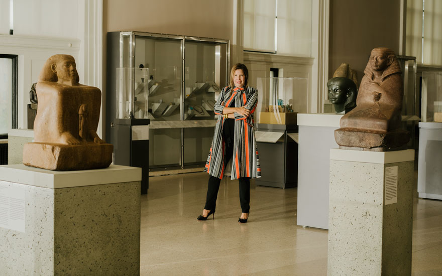 Anne Pasternak at the Brooklyn Museum. Photograph by Heather Sten