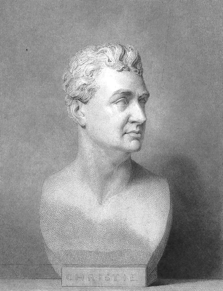 James Christie the Younger, from a bust by Harry Behnes. From Roberts, W., and Christie, Manson & Woods. Memorials of Christies A Record of Art Sales from 1766 to 1896  by W. Roberts. London G. Bell and Sons, 1897. Print