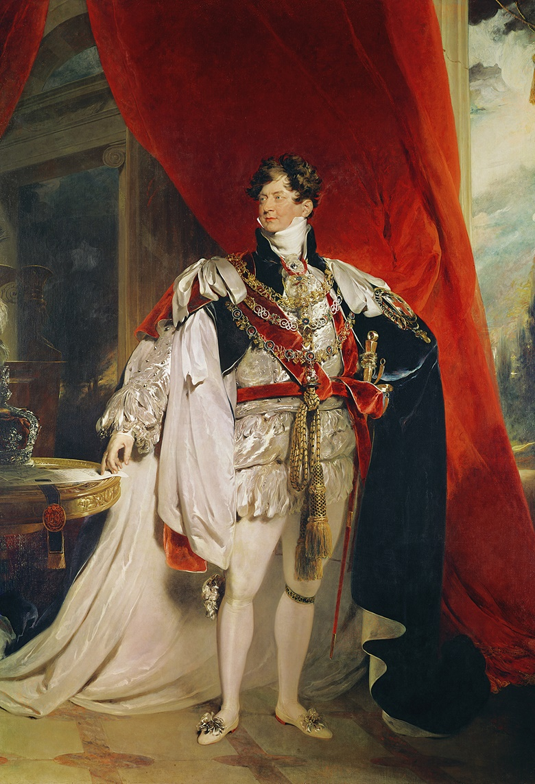 Thomas Lawrence, The Prince Regent, Later George IV (1762-1830), in his Garter Robes, 1816. Oil on canvas. Vatican Museums and Galleries. Photo Bridgeman Images