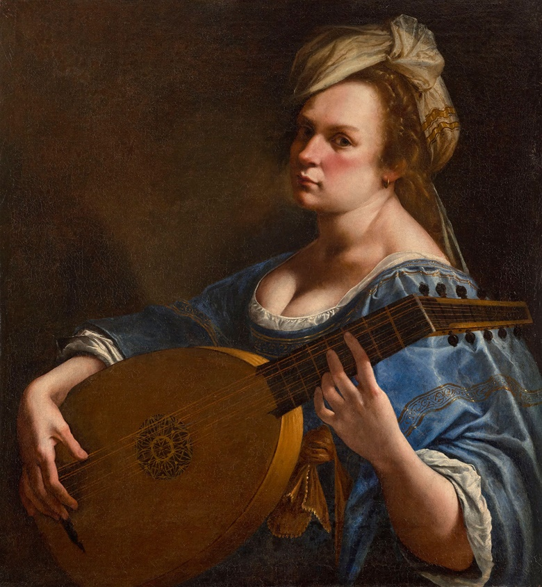 Self-Portrait as a Lute Player, about 1615-18. Wadsworth Atheneum, Hartford. Charles H. Schwartz Endowment Fund (2014.4.1). © Wadsworth Atheneum Museum of Art