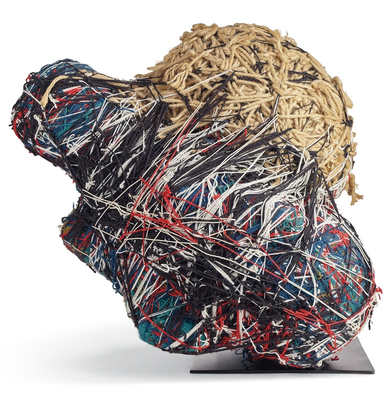 Judith Scott (1943-2005), Untitled, 1989. Yarn over mixed media supports. 25 in high, 33 in wide, 18 in deep. Estimate $15,000-30,000. Offered in Outsider Art on 17 January 2020 at Christie's in New York