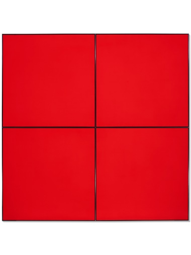 Tadaaki Kuwayama (b.1932), Untitled, 1968-1969. Acrylic on four joined canvases with aluminum strip. 84¾ x 84¾ in (215.3 x 215.3 cm). Estimate $200,000. Offered in Tadaaki Kuwayama and Rakuko Naito, 8-17 January at Christie's in New York