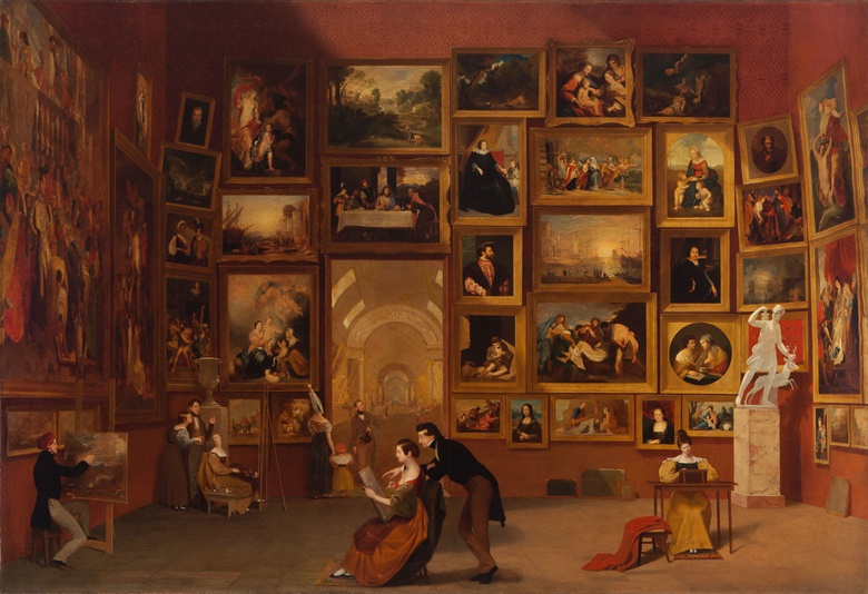 Samuel F. B. Morse, Gallery of the Louvre, 1831-33. Oil on canvas. 73¾ x 108 in (187.3 x 274.3 cm). Terra Foundation for American Art, Daniel J. Terra Collection, 1992.51. Photography © Terra Foundation for American Art, Chicago
