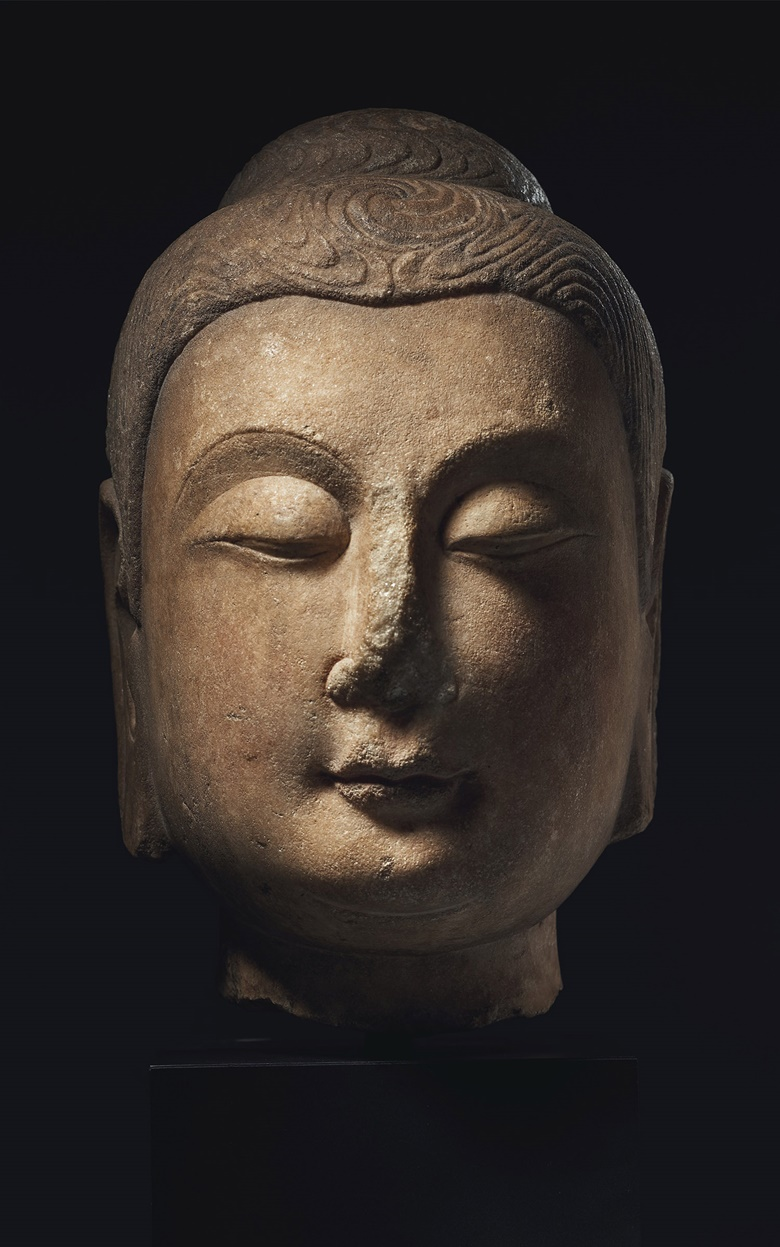 A very rare and important marble head of Buddha, China, Sui dynasty (AD 550-618). 11¾ in (29.9 cm) high. Estimate $500,000-700,000. Offered in Sacred and Imperial The James and Marilynn Alsdorf Collection Part I on 24 September at Christie's in New York