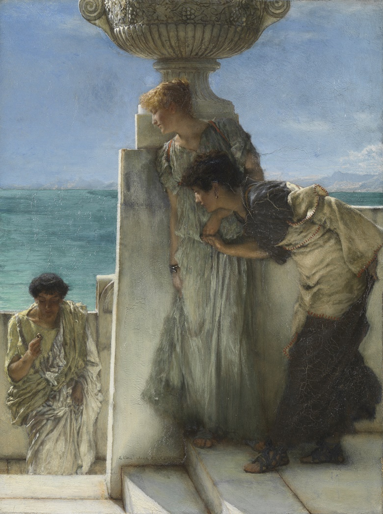 Lawrence Alma Tadema, A Foregone Conclusion, 1885. Oil paint on wood, 42⅓ x 20½ in (62 x 52.5 cm). Photo © Tate