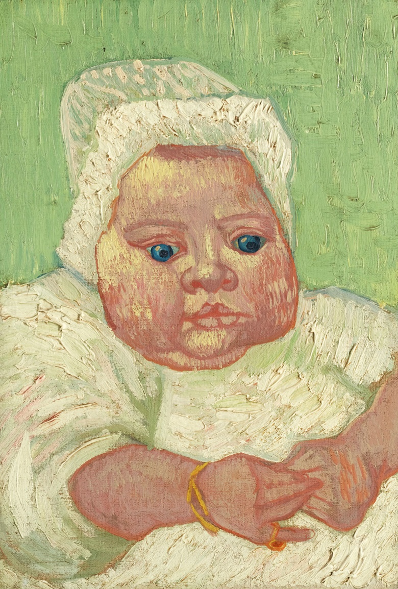 Vincent van Gogh (1853-1890), Le Bébé Marcelle Roulin. Oil on canvas. 14¼ by 9⅞ in (36 by 25 cm). Private collection