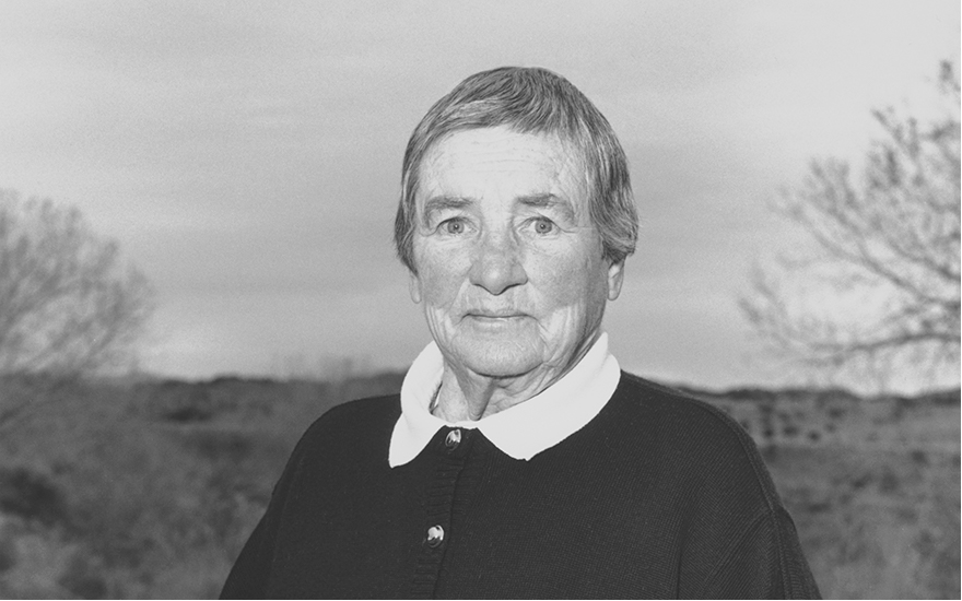 Agnes Martin, 1988. Photograph by Donald Woodman © 2015 Agnes Martin Artists Rights Society (ARS), New YorkDACS, London