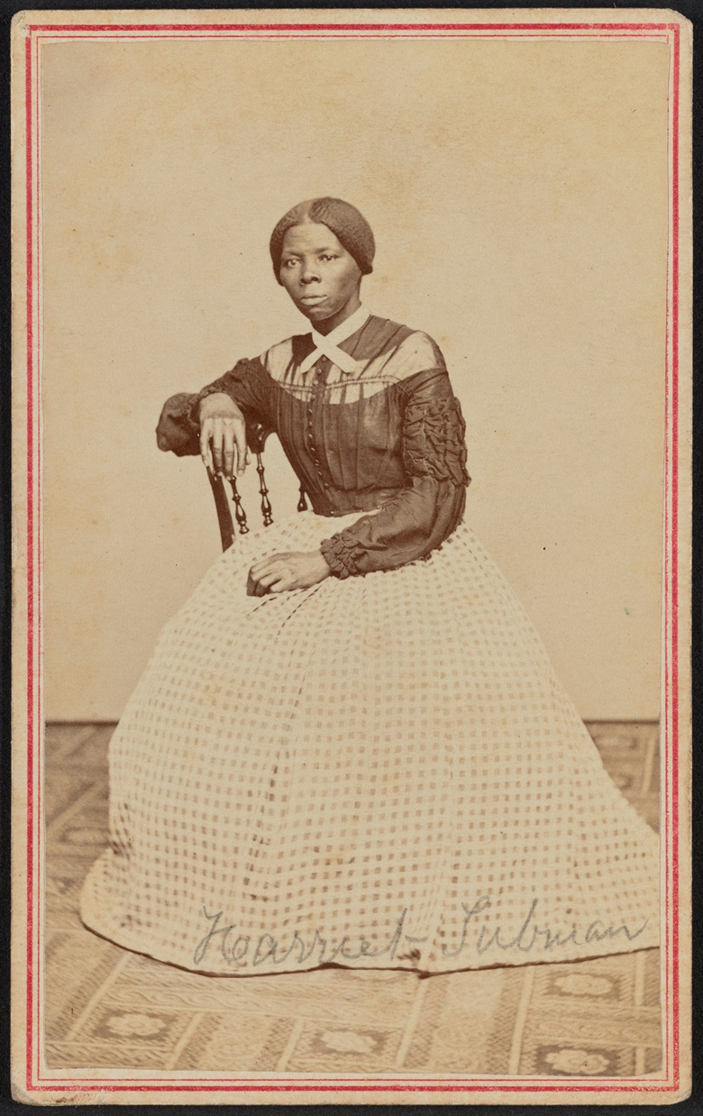 Portrait of Harriet Tubman at Midlife, 1868. Photo Powelson, B.F., photographer, 77 Genesee St., Auburn, New York. Retrieved from the Library of Congress, httpswww.loc.govitem2018645050