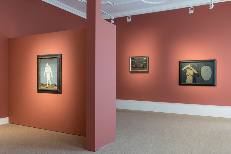 Installation view of René Magritte (Or The Rule of Metaphor) at Luxembourg & Dayan, London, 2018. Photo Courtesy of Luxembourg & Dayan New YorkLondon. Artworks © René Magritte, DACS 2020