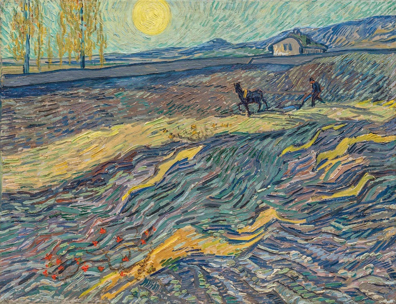 Vincent van Gogh (1853-1890), Laboureur dans un champ, 1889. Oil on canvas. 19⅞ x 25½ in  (50.3 x 64.9 cm). Sold for $81,312,500 on 13 November 2017 at Christie's in New York