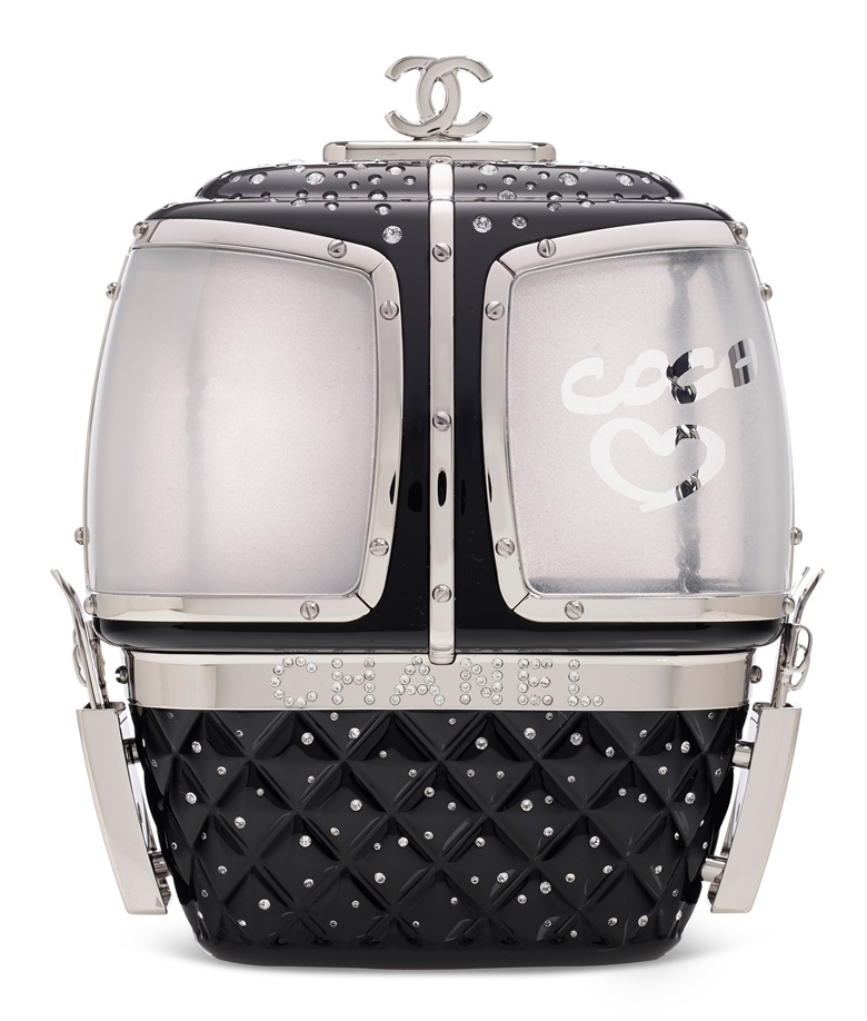 A limited edition black crystal & lucite gondola minaudiere, Chanel, 2019. Estimate Price on request. Offered for private sale at Christies. View handbags currently offered for private sale at Christie's