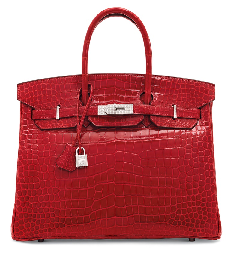 A shiny braise porosus crocodile diamond Birkin 35 with 18K white gold and diamond hardware, Hermès, 2007. Price on request. Offered for private sale at Christie's. View handbags currently offered for private sale at Christie's.