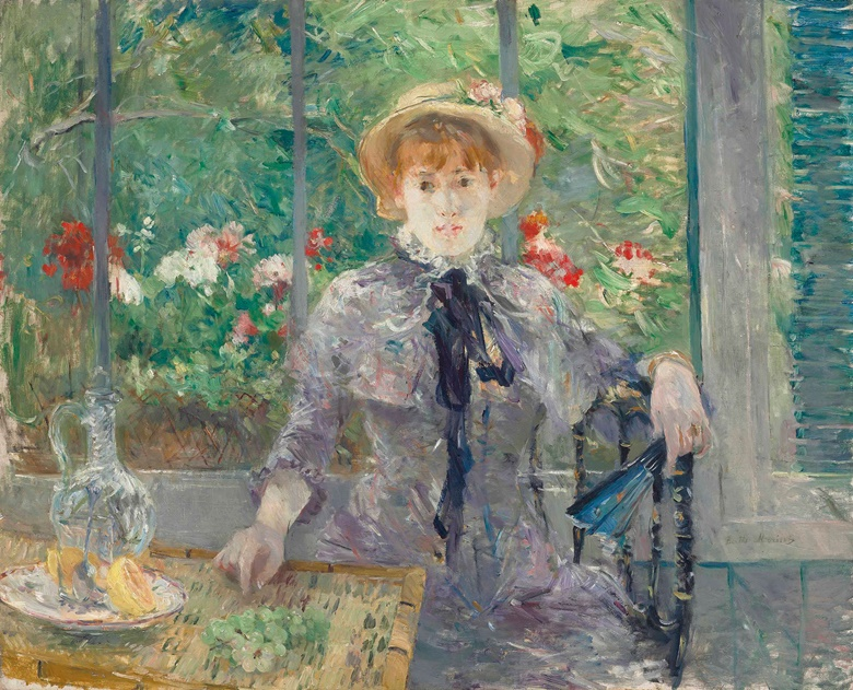 Berthe Morisot (1841-1895), Après le déjeuner, 1881. Oil on canvas. 31⅞ x 39⅜ in (81 x 100 cm). Sold for £6,985,250 on 6 February 2013 at Christie's London