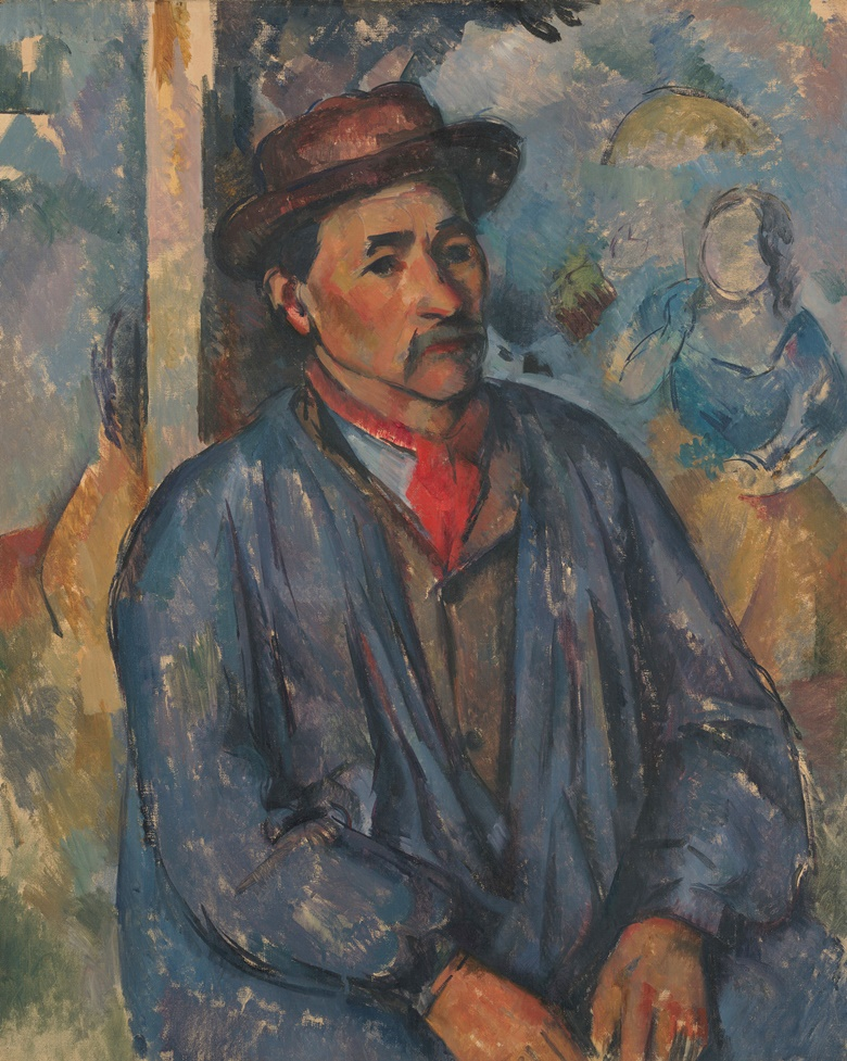 Paul Cézanne, Man in a Blue Smock, c. 1896-97. Oil on canvas. 32⅛  x 25½ in (81.5 x 64.8 cm). Acquired in memory of Richard F. Brown, the Kimbell Art Museum's first director, by the Kimbell Board of Trustees, assisted by the gifts of many friends, APg 1980.03. Photo Kimbell Art Museum, Fort Worth, Texas Art Resource, NYScala, Florence