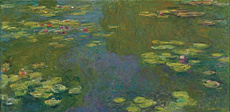 Claude Monet, Le bassin aux nymphéas (The Waterlily Pond), 1919. Oil on canvas. 100.4 x 201 cm. Sold for £40,921,250 on 24 June 2008 at Christie's London