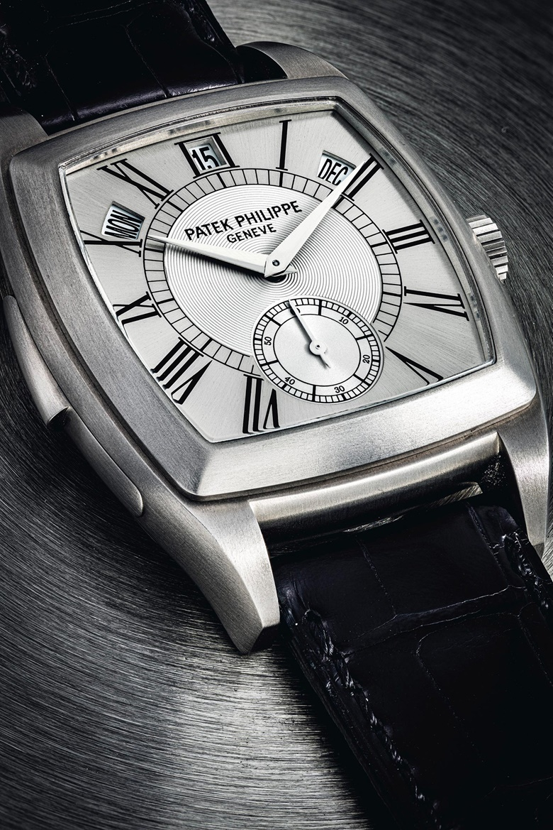 Patek Philippe. A unique and highly important titanium automatic cathedral minute repeating annual calendar wristwatch, circa 2003. Signed Patek Philippe, Geneve, ref. 5033, movement no. 1904501, case no. 4237658. Estimate HK$7,800,000-24,000,000. Offered in IMPORTANT WATCHES Including The Titanium Collection and an Important Private Asian Collection Part 3 on 13 July 2020 at Christie's in Hong