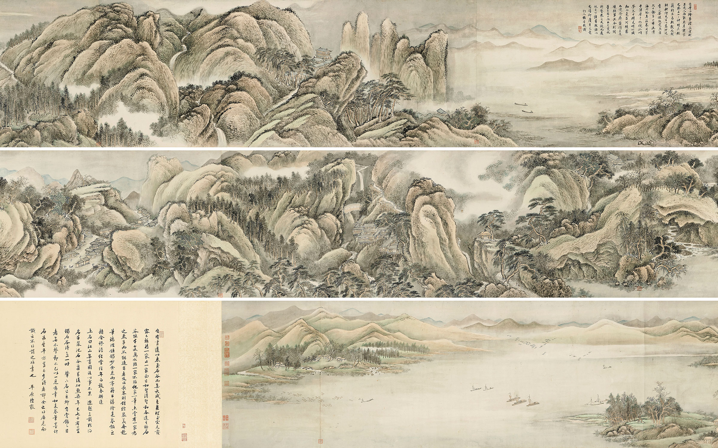 Wang Hui, (1632-1717), (detail) Endless Streams and Mountains. Handscroll, ink and colour on paper. 21 x 480½ in (53.2 x 1220.5 cm). Estimate HK$3,000,000-5,000,000 (US$380,000-640,000).
