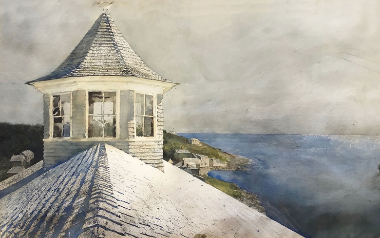 Jamie Wyeth, (b 1946), Open Sea, 1969. Watercolor on paper. 20 x 30 in. Estimate $70,000-100,000. On offer in American Art Online, 23 July-7 August