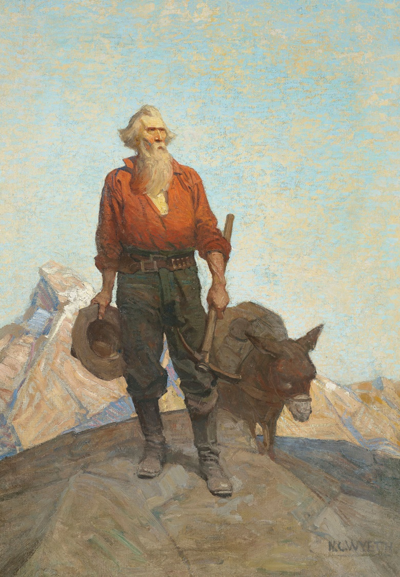 N.C. Wyeth (1882-1945), The Prospector, 1912. Oil on canvas laid down on board. 39 x 27¼ in. Available for private sale. View American Art currently available for private sale at Christie's
