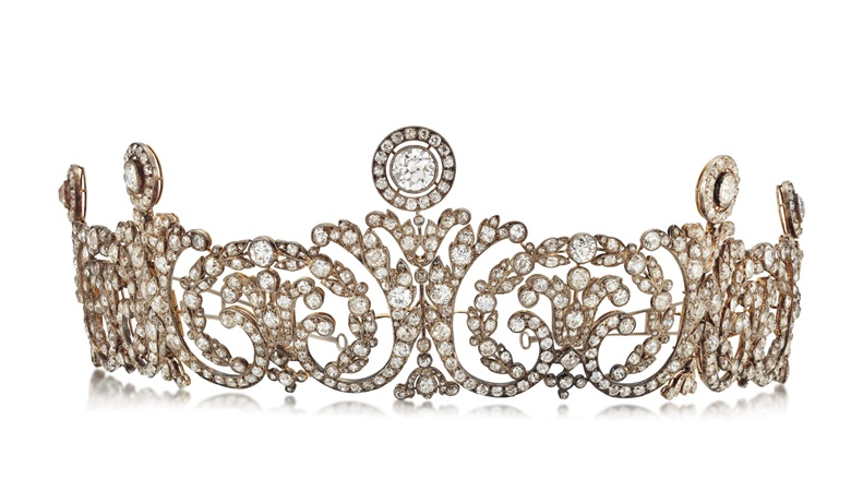 Early 20th-century diamond tiara, attributed to Cartier. Old and rose-cut diamonds, silver and gold, circa 1910, 31.2 cm wide, makers mark GH for Georges Harnichard, original Cartier case.  Estimate £200,000-300,000. Offered in Important Jewels on 30 July 2020 at Christie's in London
