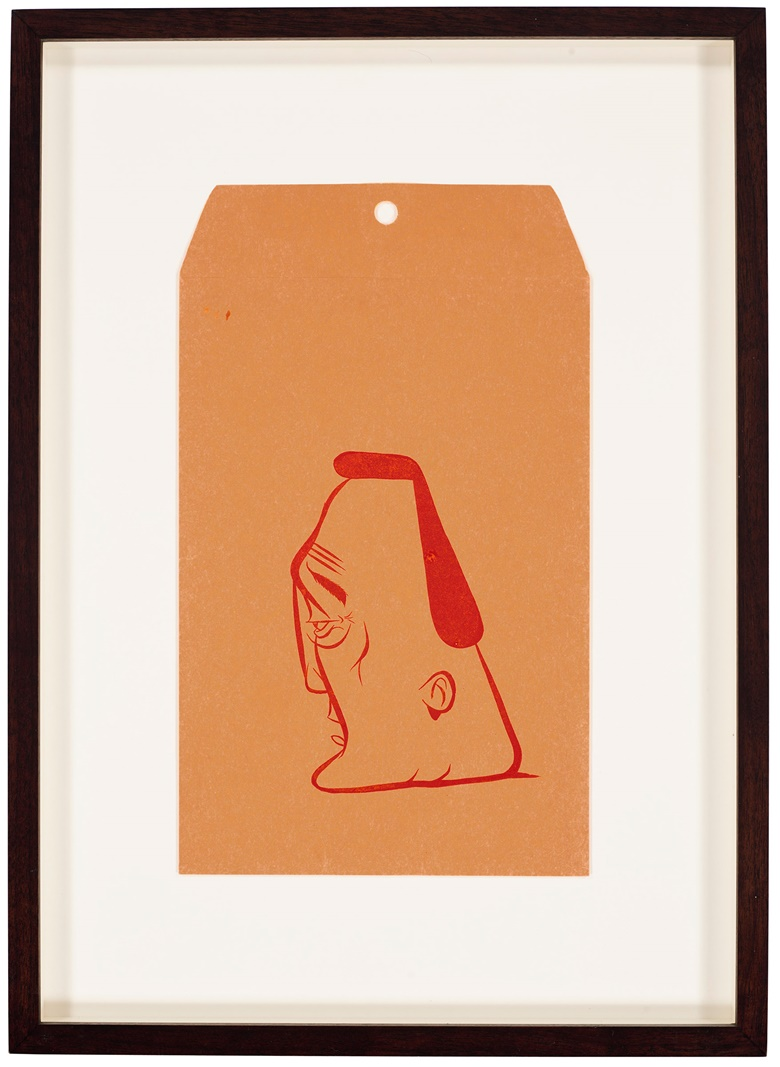 Barry McGee (b. 1966), [Untitled], 2007. Double-sided — silkscreen on envelope. 10¾ x 6⅜ in (27.3 x 16 cm). Estimate $2,000-3,000. Offered in Trespassing, 5-19 August 2020, Online
