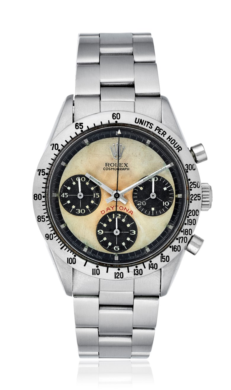 Rolex, Daytona, Paul Newman, Ref. 6239. Bracelet size 8 inches  203 mm. Sold for $106,250 on 13 March 2018, Online