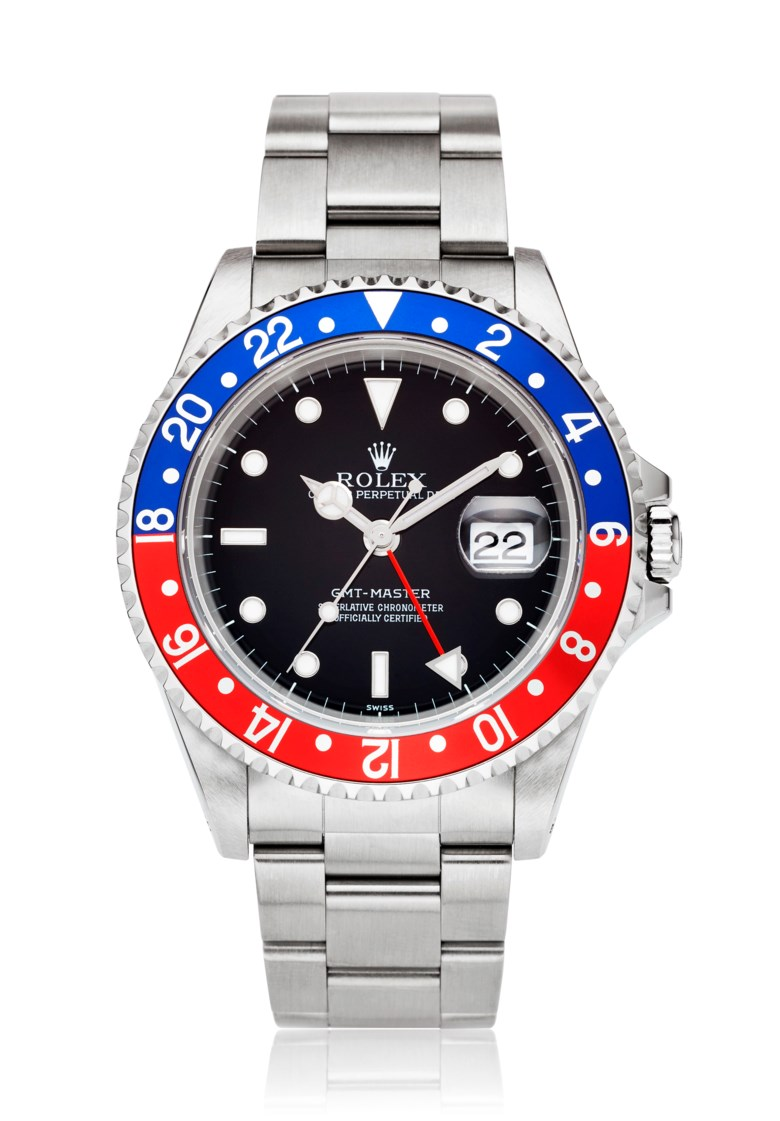 Rolex, GMT-master 'Pepsi', Ref. 16700. Bracelet size 7.08 inches  180mm. Price Realised $17,500, 21 Jun 2018, Online